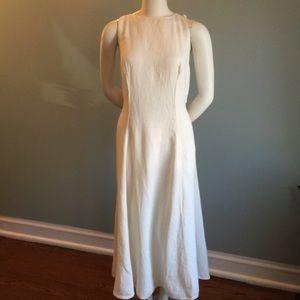 Emporio Armani Ivory Linen Dress